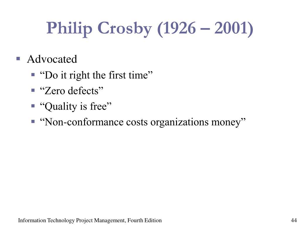 Philip Crosby (1926 – 2001)
