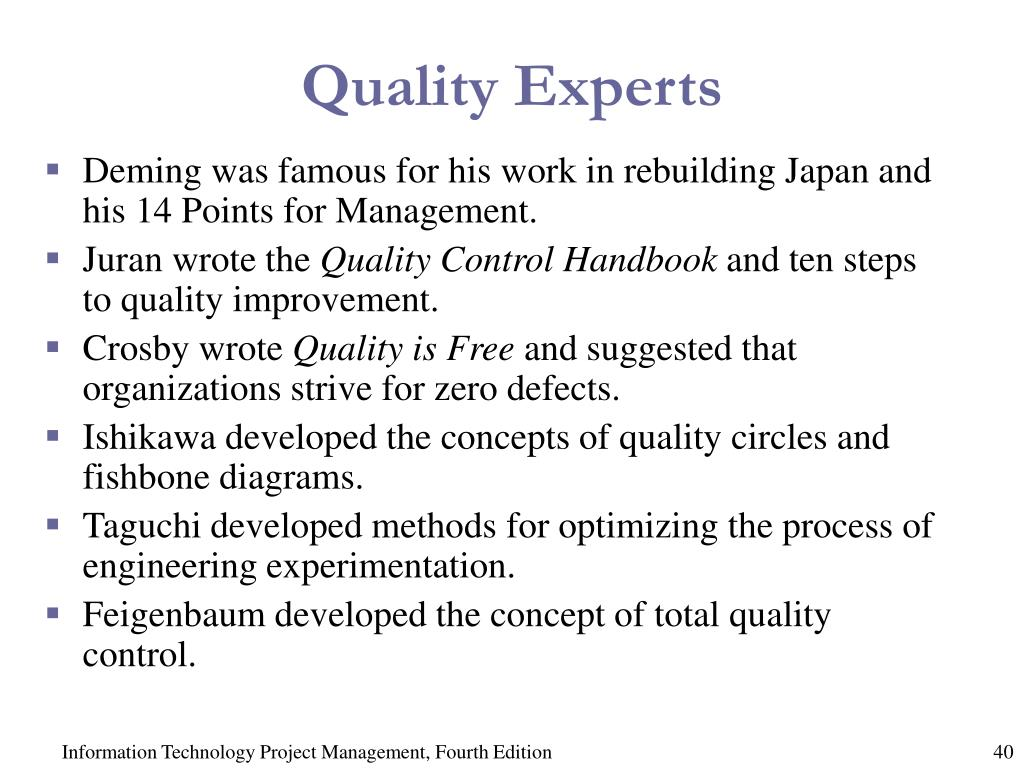 Quality Experts