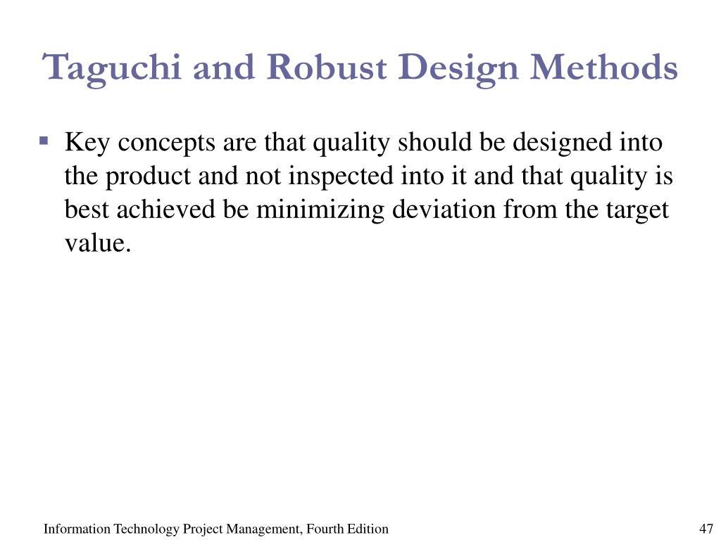 Taguchi and Robust Design Methods