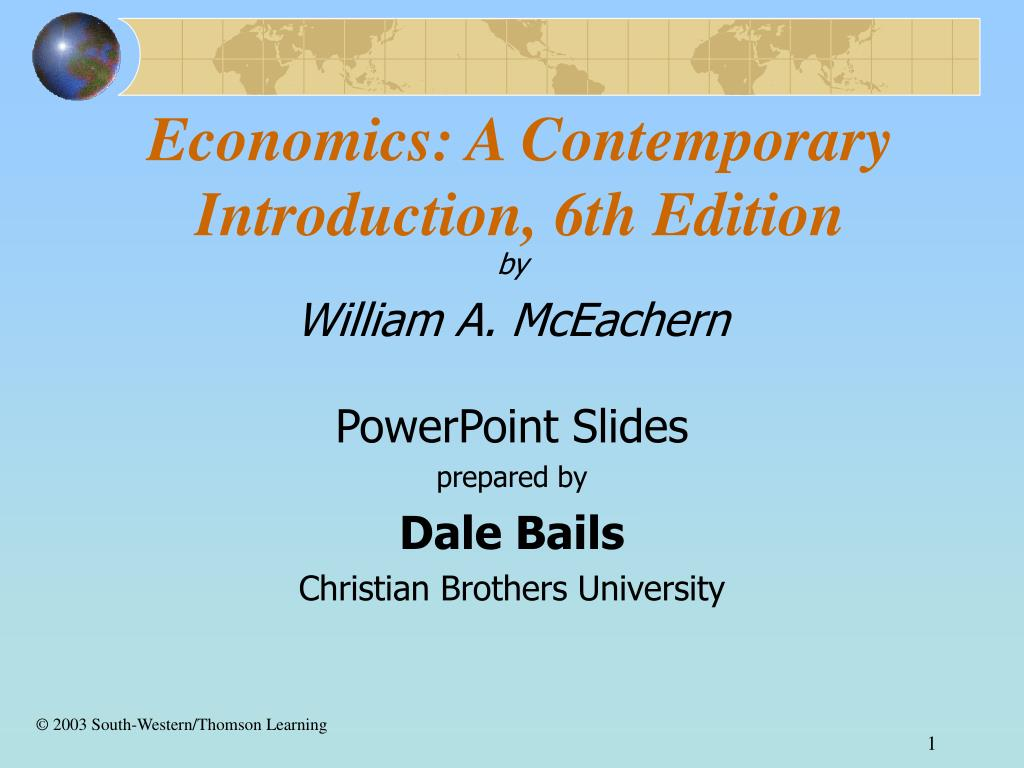 economics a contemporary introduction 6th edition l.