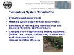 elements of system optimization