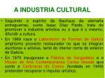 a industria cultural