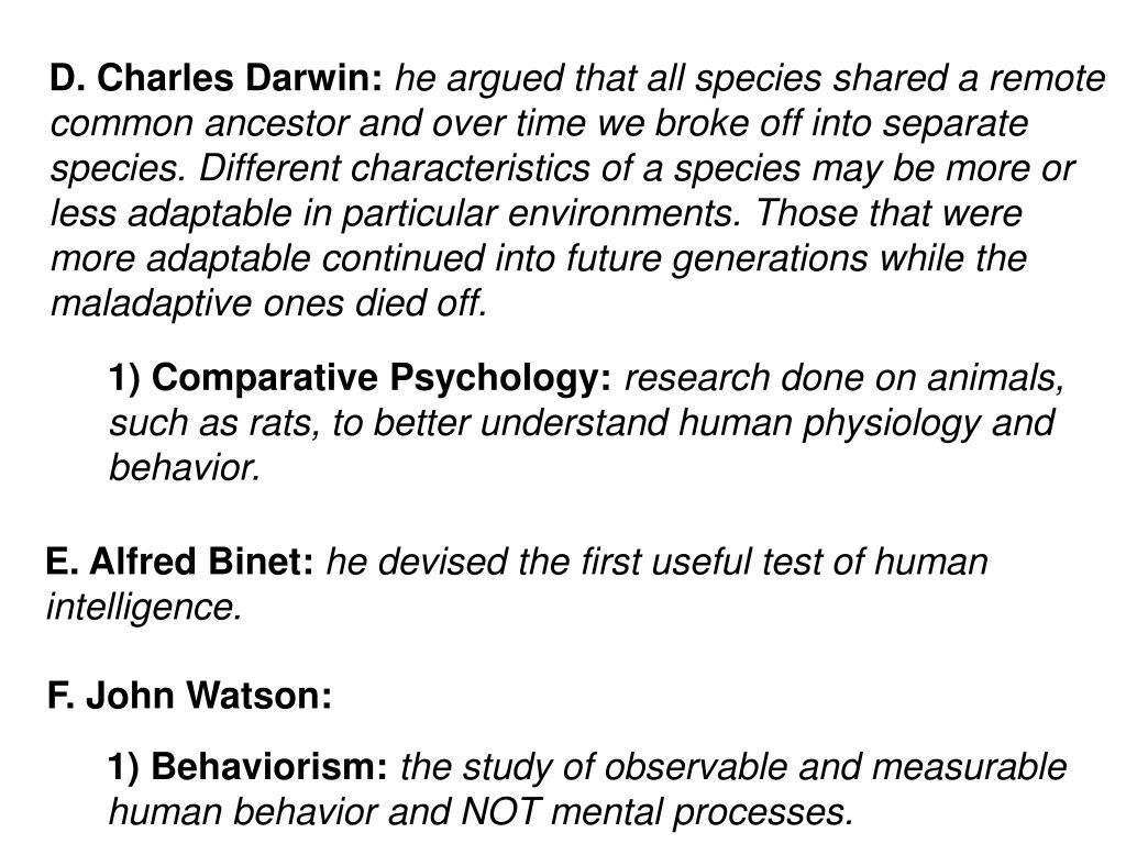 D. Charles Darwin: