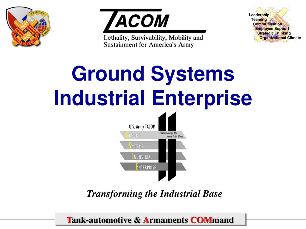 ground systems industrial enterprise l.