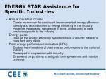 energy star assistance for specific industries