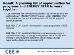 result a growing list of opportunities for programs and energy star to work together