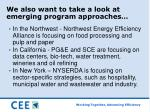 we also want to take a look at emerging program approaches