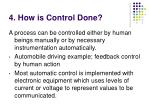4 how is control done