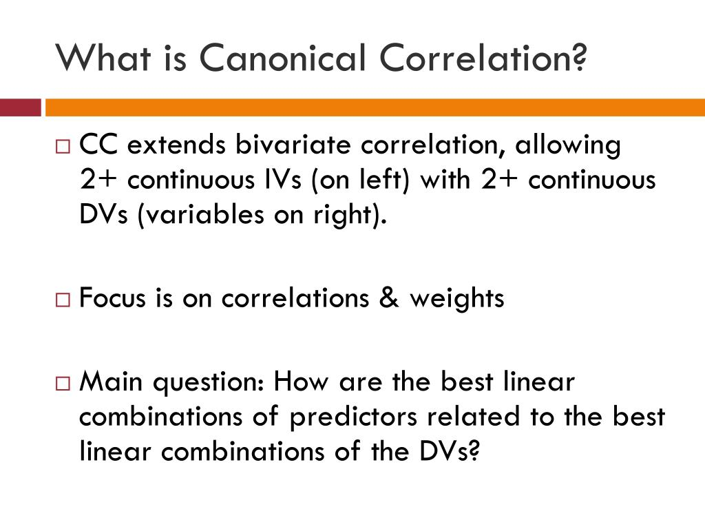 What is Canonical Correlation?