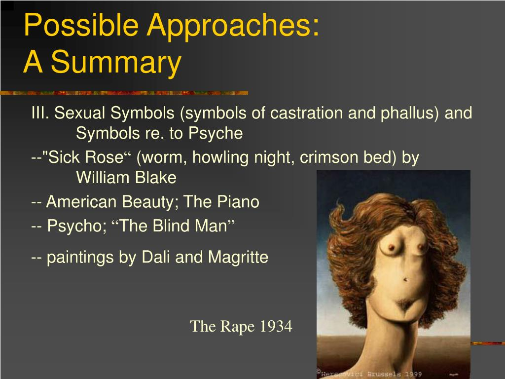 Possible Approaches: