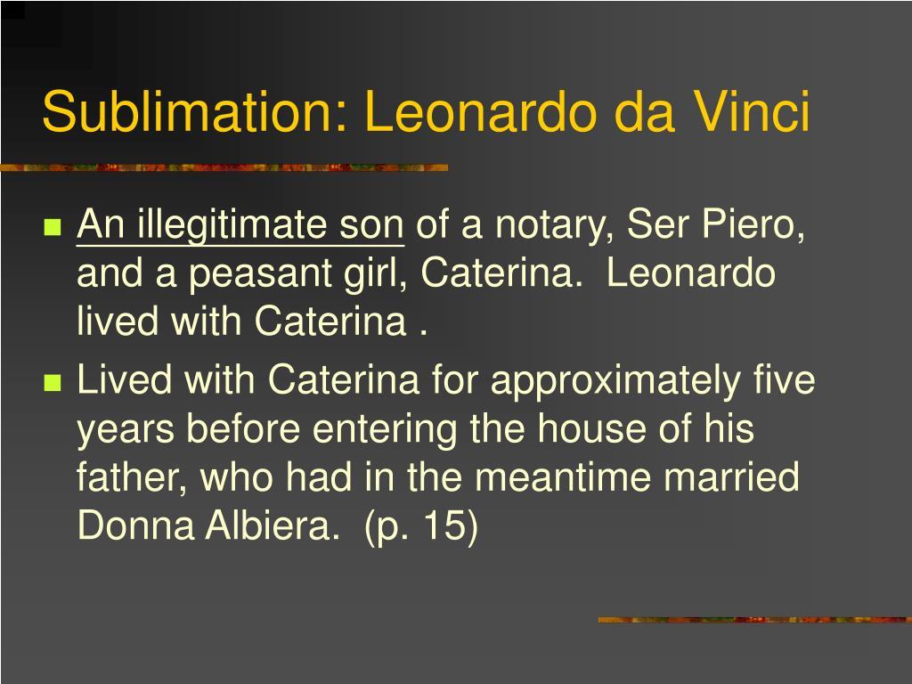 Sublimation: Leonardo da Vinci