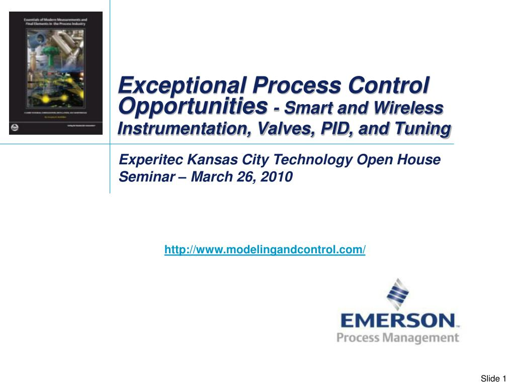 exceptional process control opportunities smart and wireless instrumentation valves pid and tuning l.