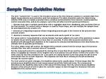 sample time guideline notes