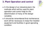3 plant operation and control