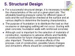 5 structural design