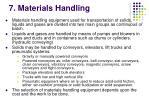 7 materials handling