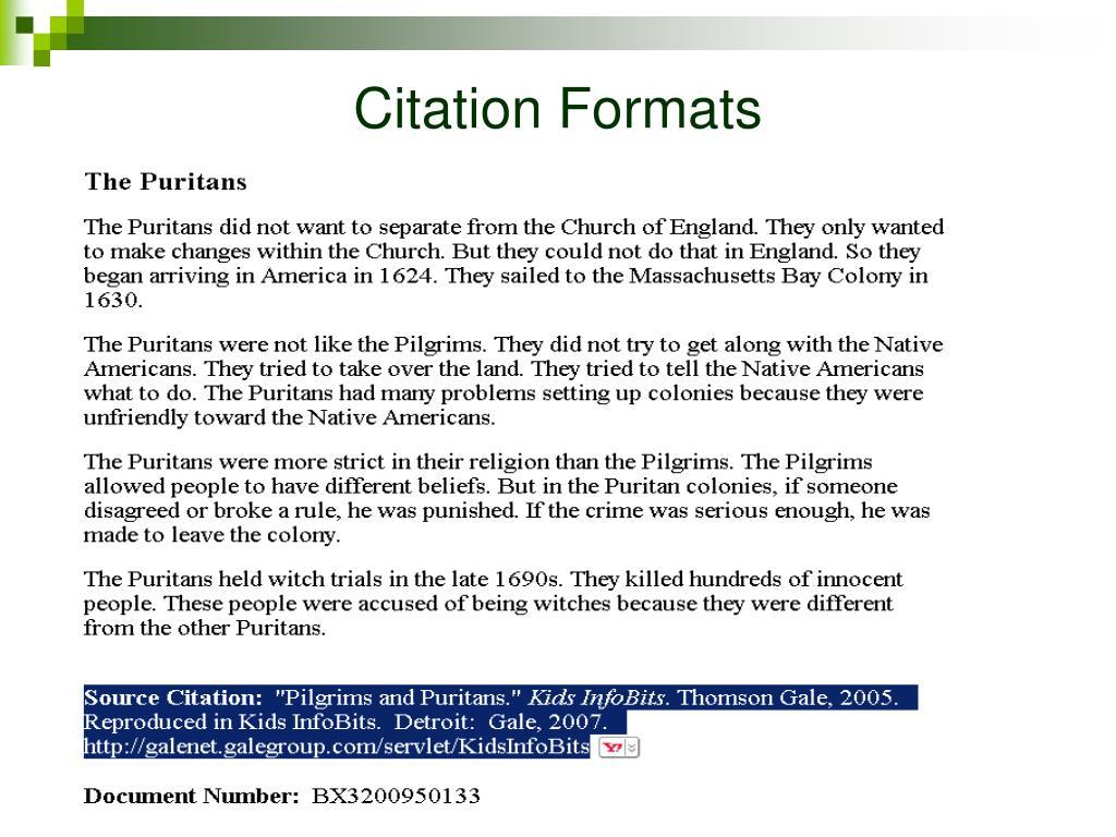 Citation Formats