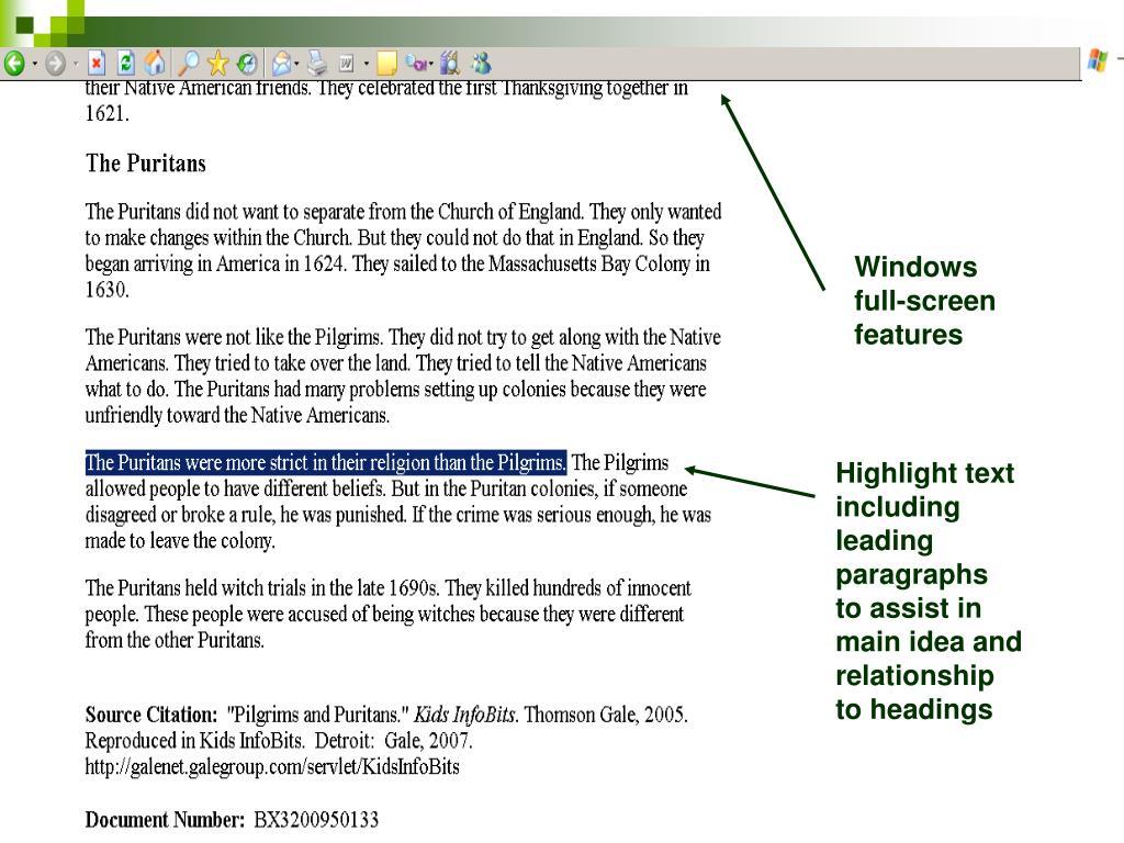 Windows full-screen features