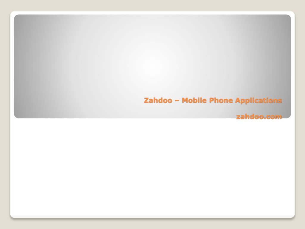 zahdoo mobile phone applications zahdoo com l.