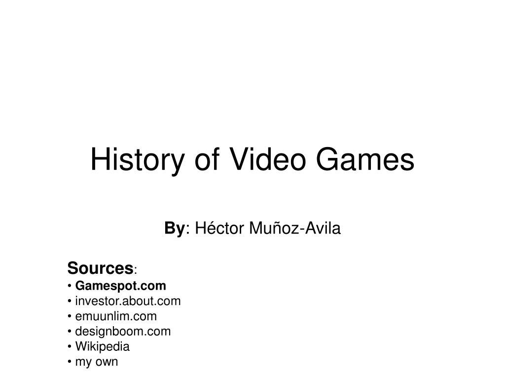 history of video games l.