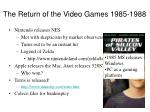 the return of the video games 1985 1988