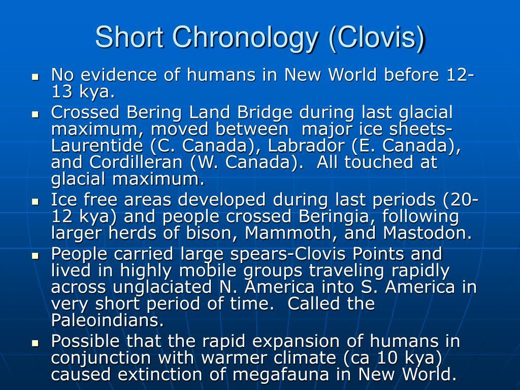 Short Chronology (Clovis)