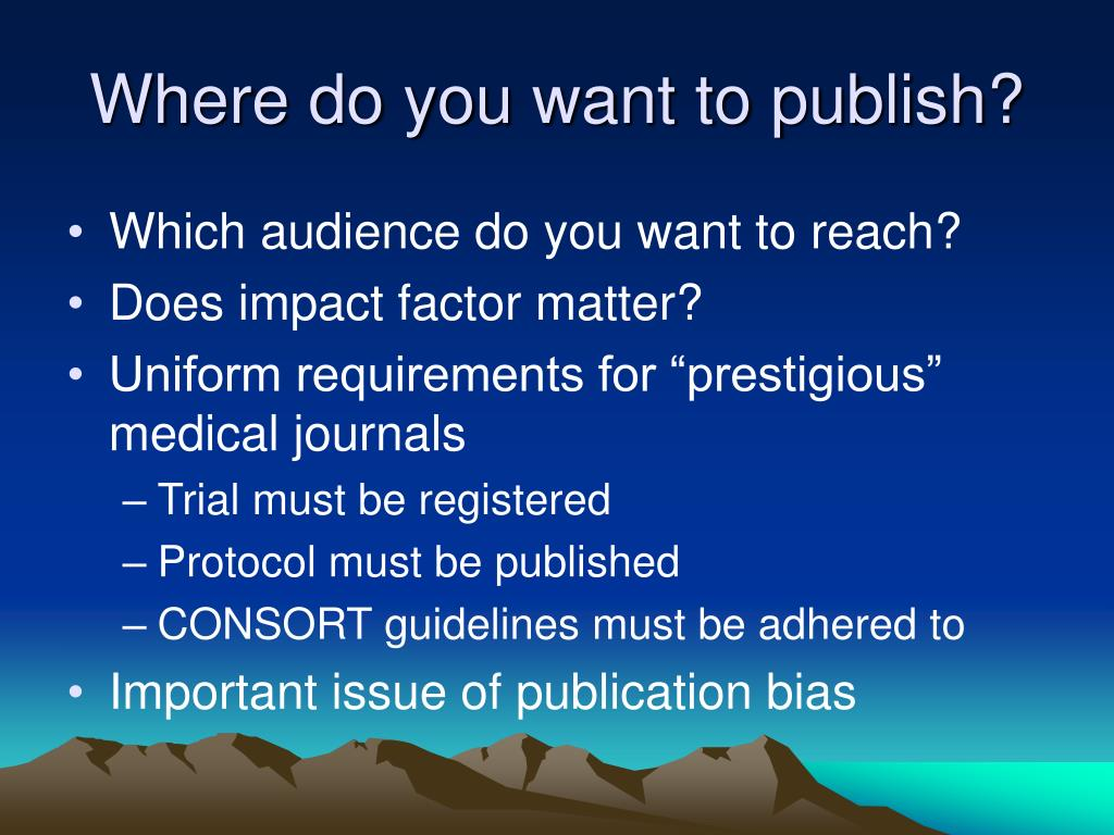 Where do you want to publish?