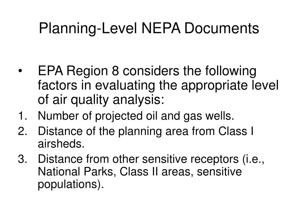 Planning-Level NEPA Documents