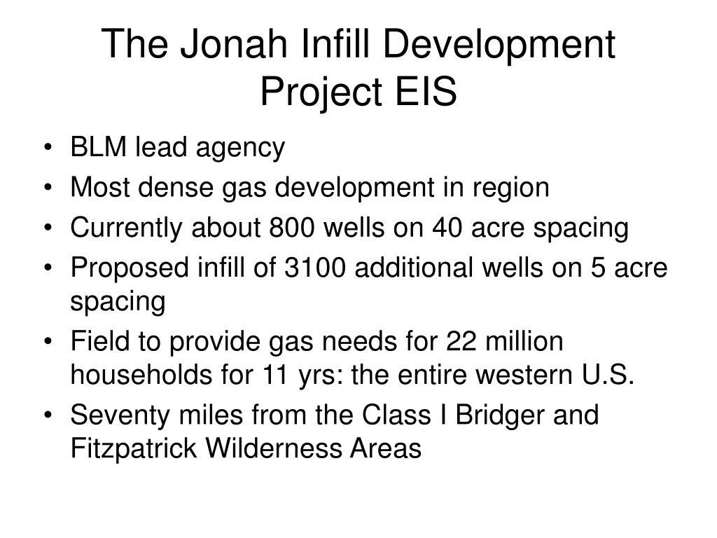 The Jonah Infill Development Project EIS