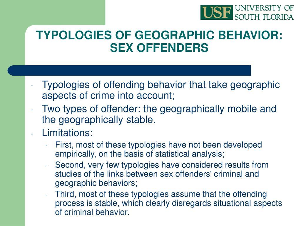 TYPOLOGIES OF GEOGRAPHIC BEHAVIOR: