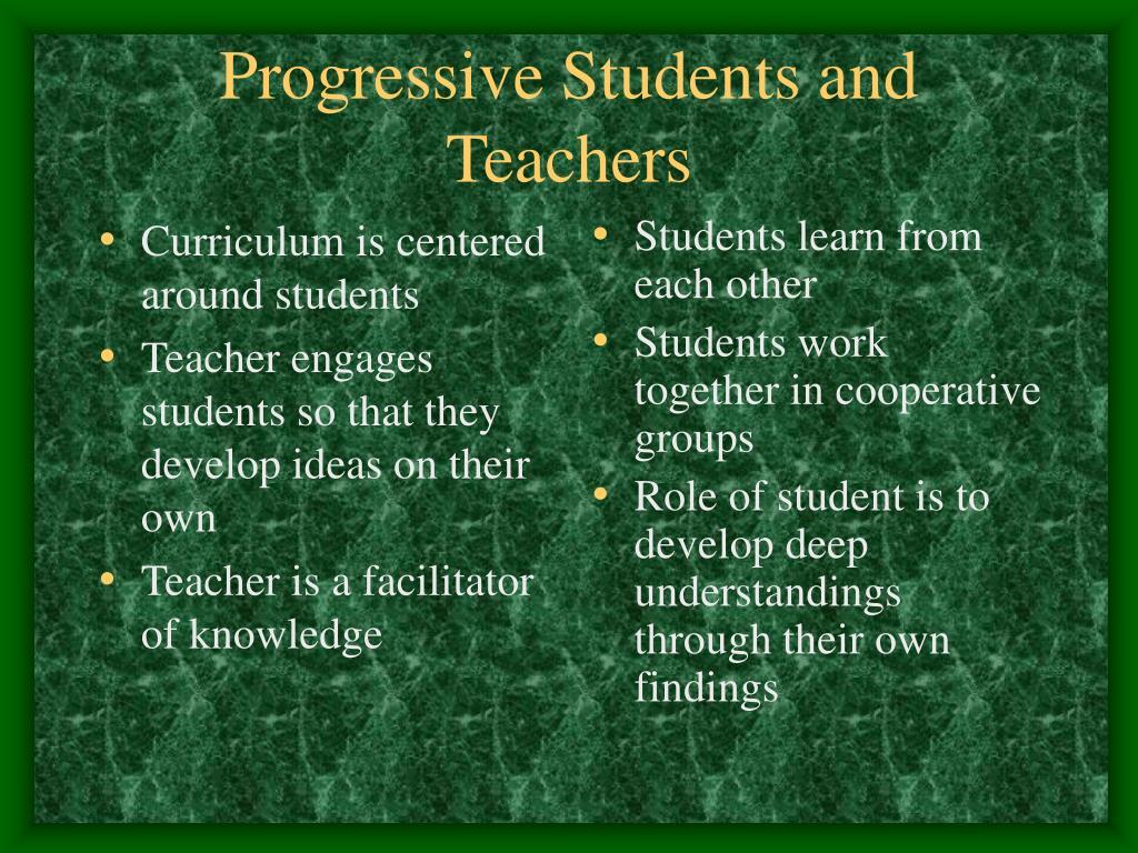 Curriculum is centered around students