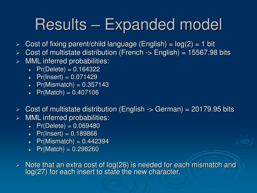 Results – Expanded model