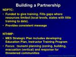 building a partnership