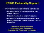 nthmp partnership support