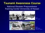 tsunami awareness course