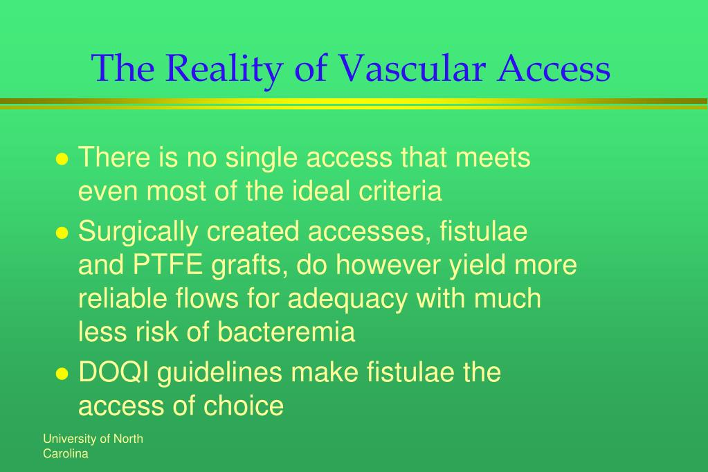 The Reality of Vascular Access