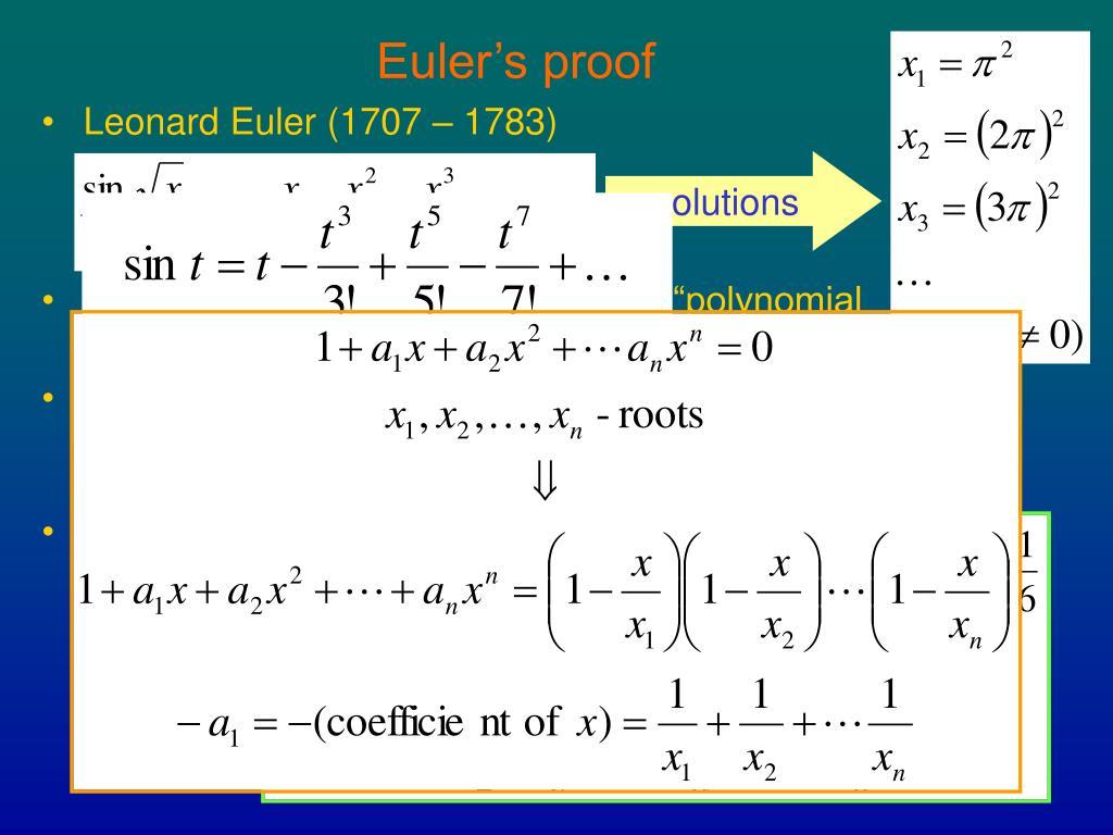 Euler's proof