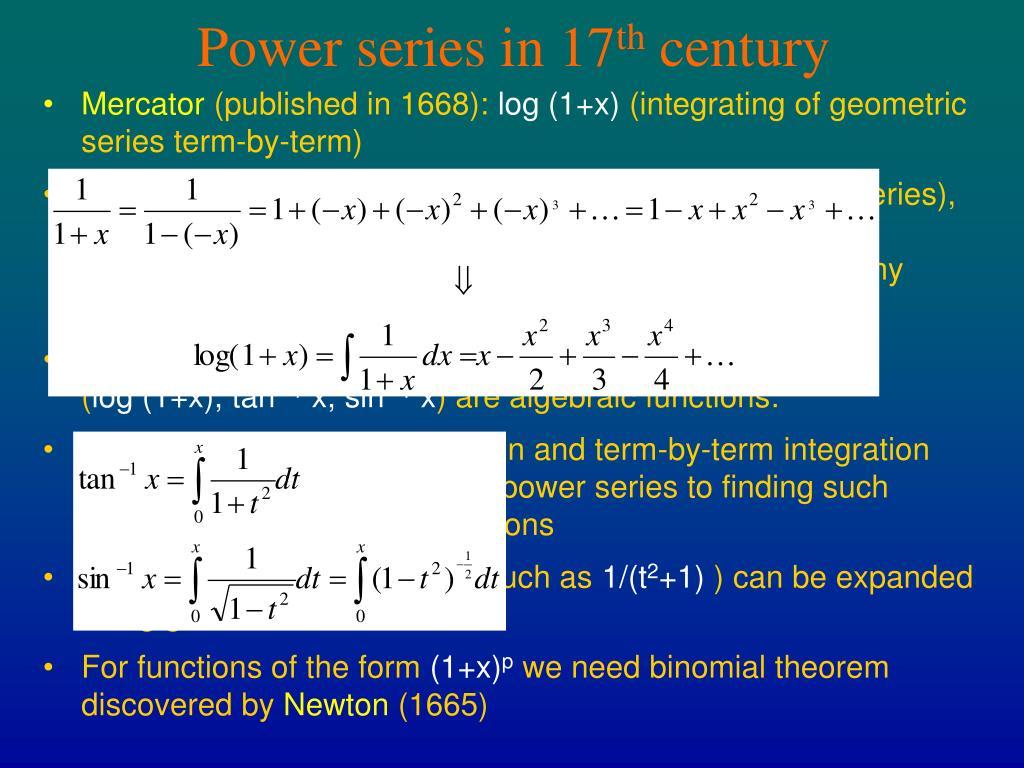 Power series in 17