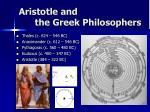 aristotle and the greek philosophers