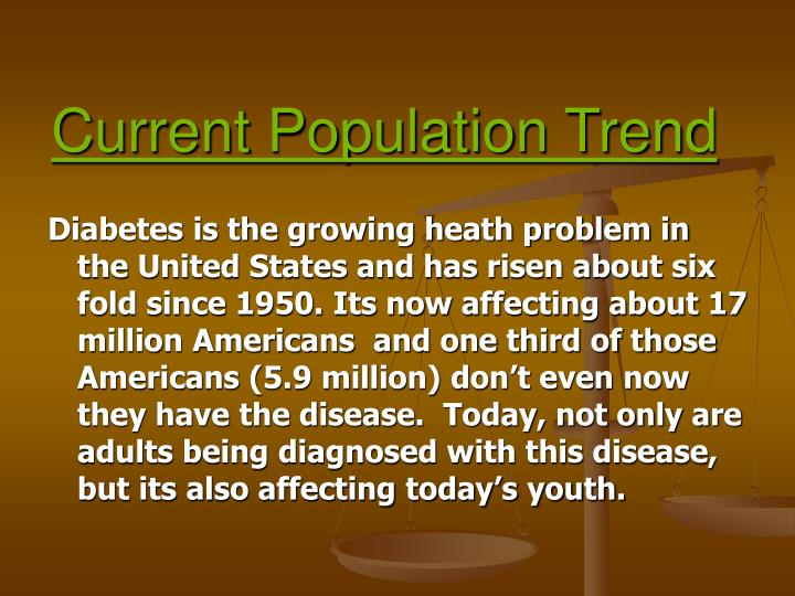 Current population trend