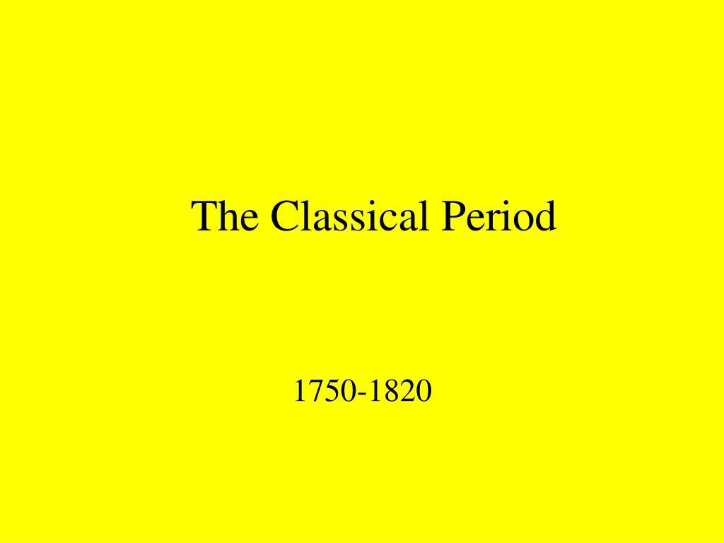 the classical period l.