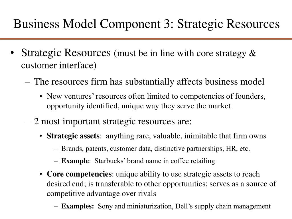 Business Model Component 3: Strategic Resources