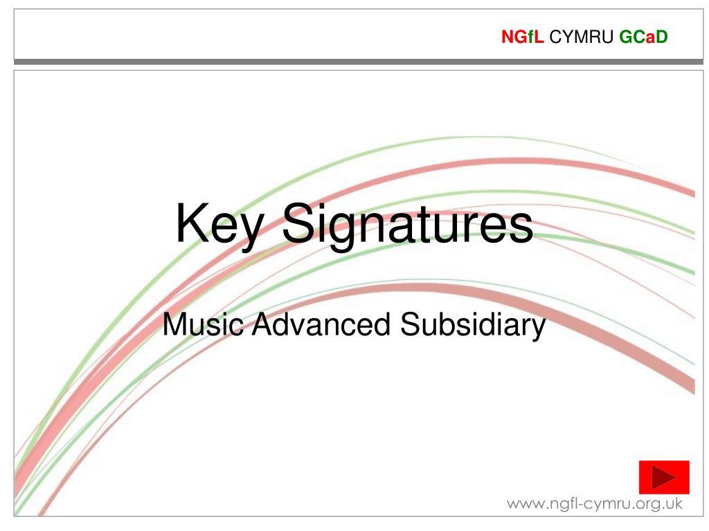 key signatures l.