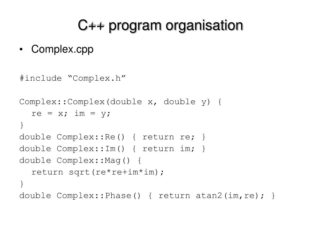 Complex.cpp