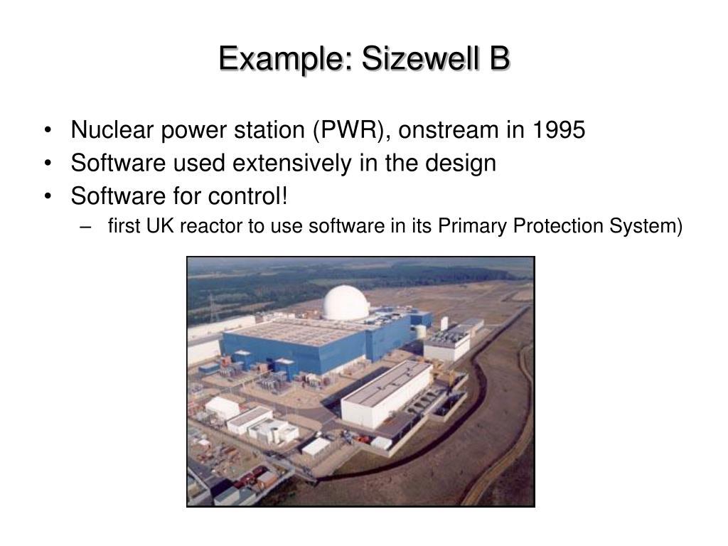 Example: Sizewell B