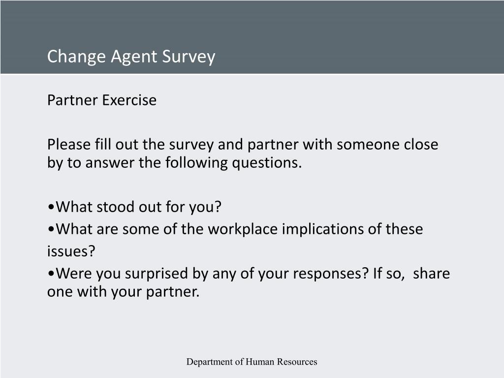Change Agent Survey