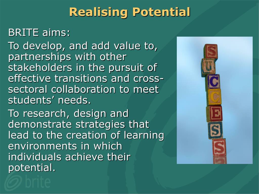 Realising Potential
