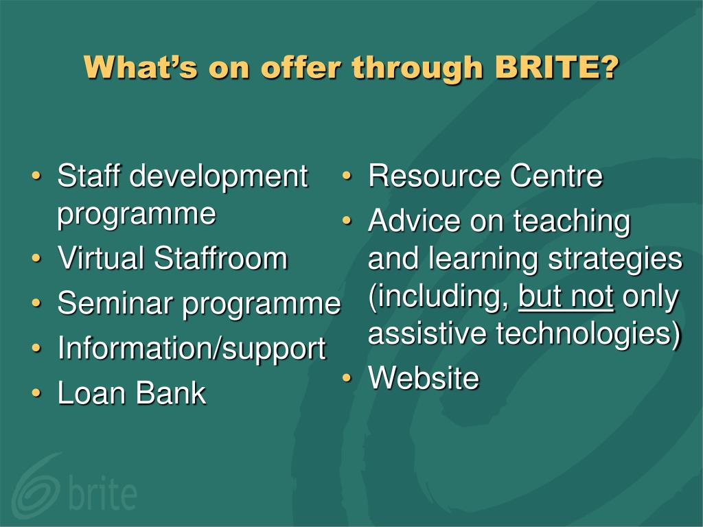 Staff development programme