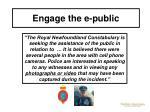 engage the e public53