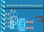 simplified boolean equation